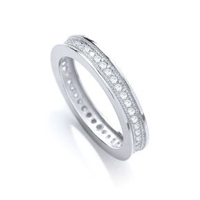 J-JAZ Full Eternity Round Brilliant Cz Ring